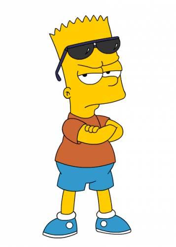 Игра Барт Симпсон На Скейте В Лесу